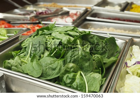 Salad Bar with Spinach