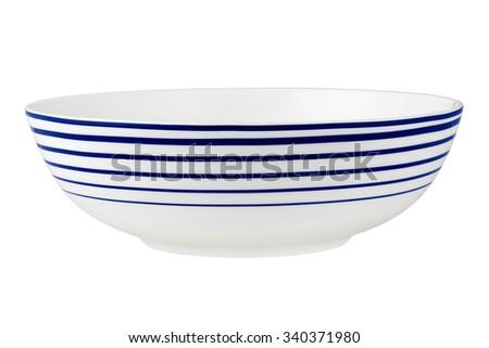 Salad bowl isolated on white. - stock photo