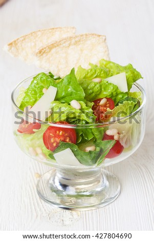 salad bowls lettuce glass isolated healthy diet, figure, slimness, low-calorie, - stock photo