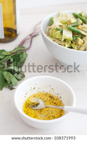 Salad dressing making