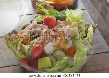 salad, foods,  - stock photo