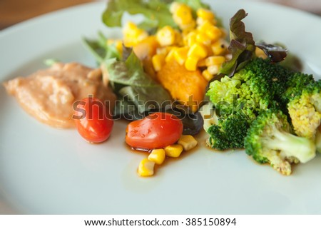 salad for diet food clean food white plate