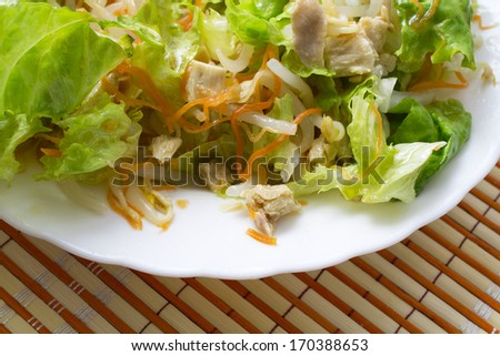 salad isolated