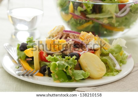 Salad nicoise - stock photo