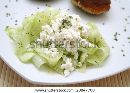 salad of cucumbers