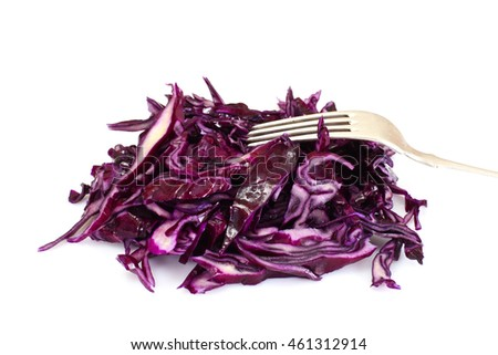Salad of Red Cabbage with Vegetable Oil. Diet Food. Studio Photo
