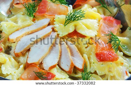 salad of sausage and ham