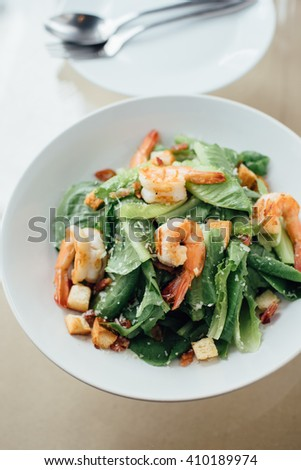 salad on the dish - stock photo