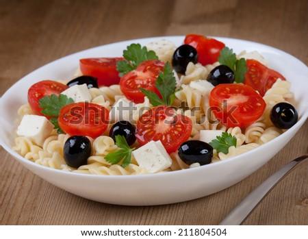 Salad pasta - stock photo