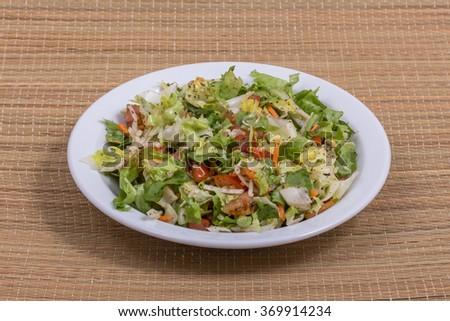 Salad plate - stock photo