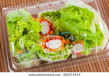 Salad roll vegetables  in Package for Health - stock photo