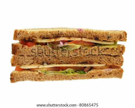 Salad Sandwiches - stock photo