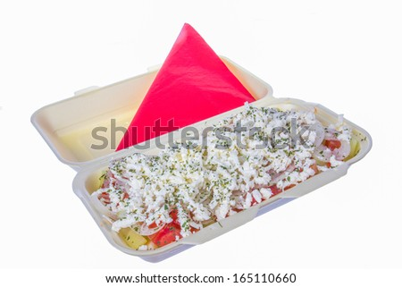 salad to go with cheese, tomato, pepper and parsley