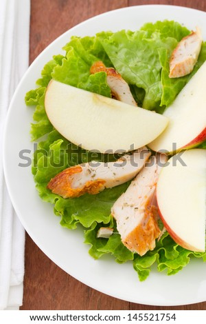 salad with apple