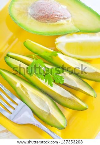 salad with avocado - stock photo