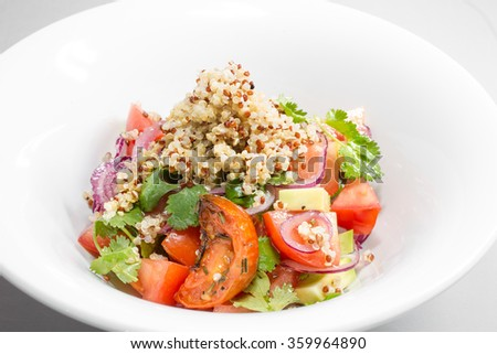 salad with cereal