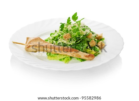salad with chicken