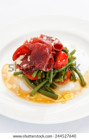salad with green beans - stock photo