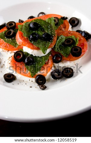 salad with herbs - stock photo