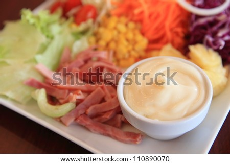 Salad with mayonnaise
