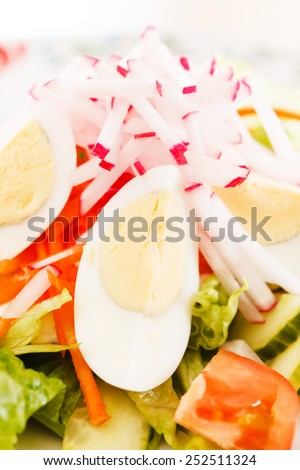 salad with vegetables - stock photo