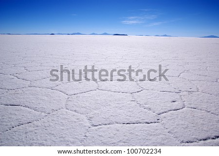 Salar de Uyuni, Bolivia - stock photo