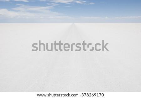 Salar de Uyuni, Bolivia.  - stock photo