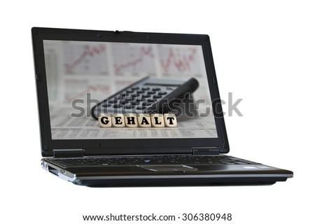 Salary - stock photo