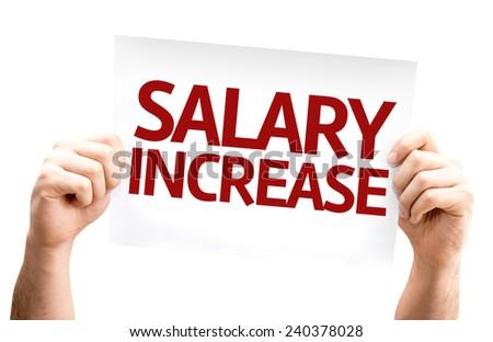 Salary Increase card isolated on white background - stock photo