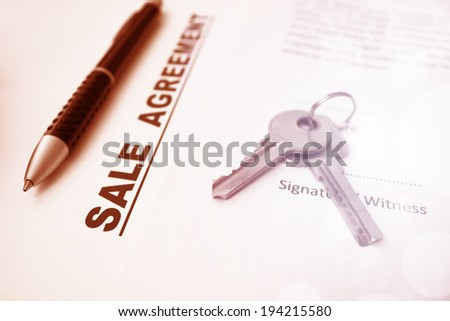 Sale Agreement,For Real Estate Concept Background - stock photo