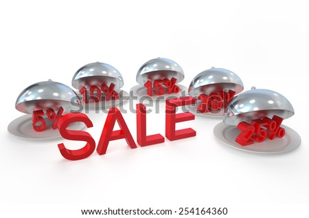 sale and discount concept  isolated on white background - stock photo