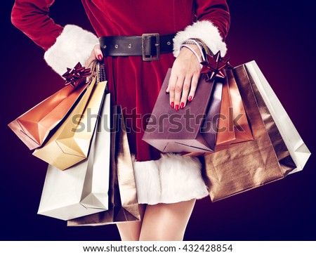 sale and woman with bags
