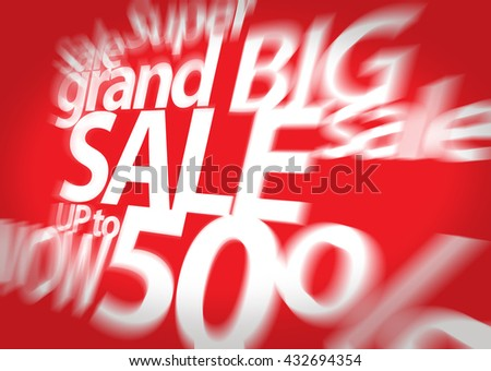 Sale background. Big sale. Sale tag. Sale poster. Grand sale. Super Sale and special offer. 50% off.