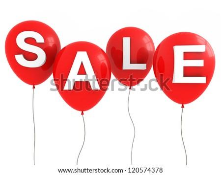 Sale Balloons - stock photo