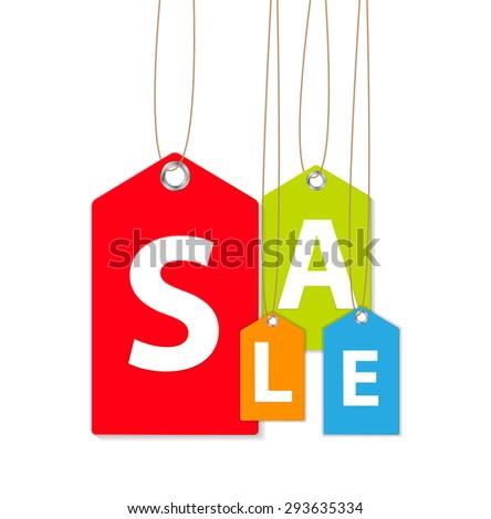 Sale Banner.  Illustration  - stock photo
