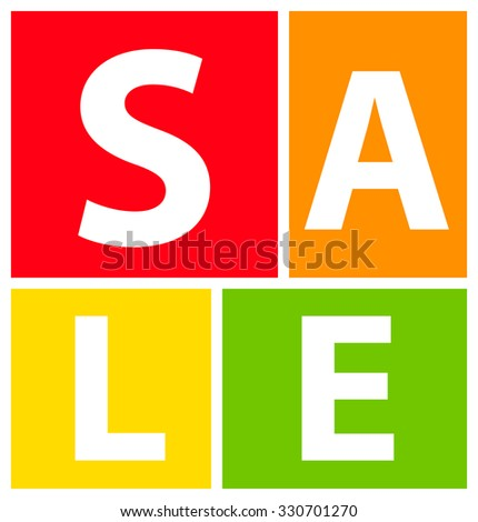 Sale Banner. Illustration Isolated on White Background - stock photo