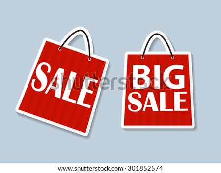 Sale Banner with Place for Your Text.  Illustration  - stock photo