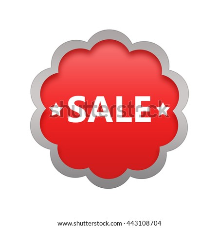 Sale commercial business sign.