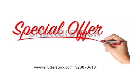 sale concept. hand writing. Concept of discount - stock photo