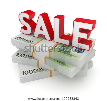 Sale concept.Isolated on white background.3d rendered.