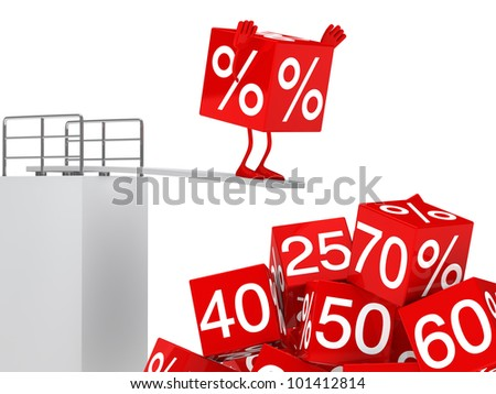 sale cube figure jump in pille off