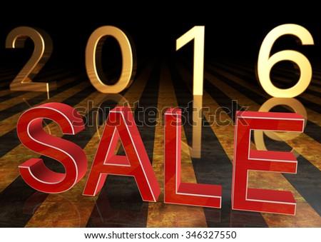 Sale 3d - stock photo