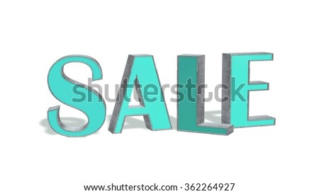 sale - 3d text on white