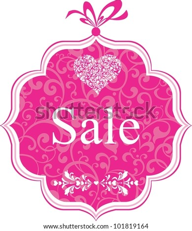 Sale Label. Design element isolated on White background. Illustration - stock photo