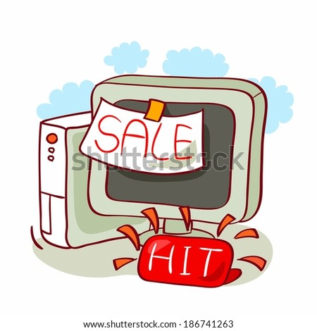 Sale of computer in shop