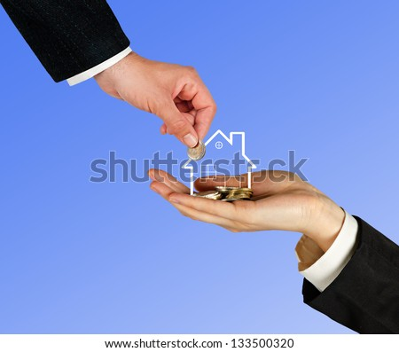 Sale of house - stock photo