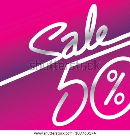 Sale percents - stock photo