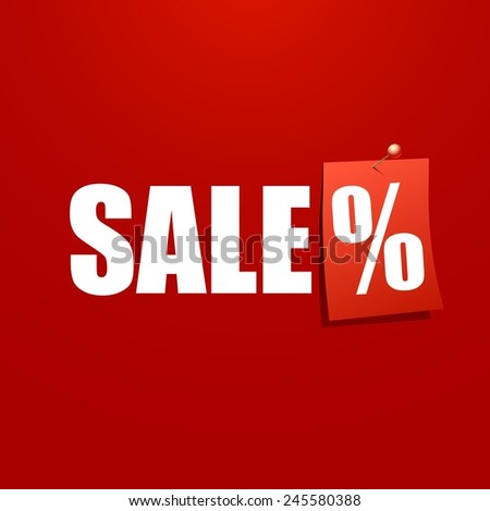 Sale poster with percent - stock photo
