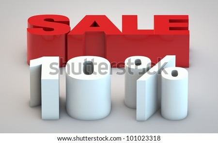 Sale - price reduction of 10% - stock photo
