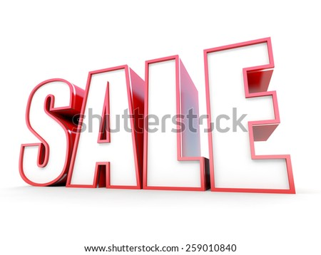 Sale red tag on white background - stock photo